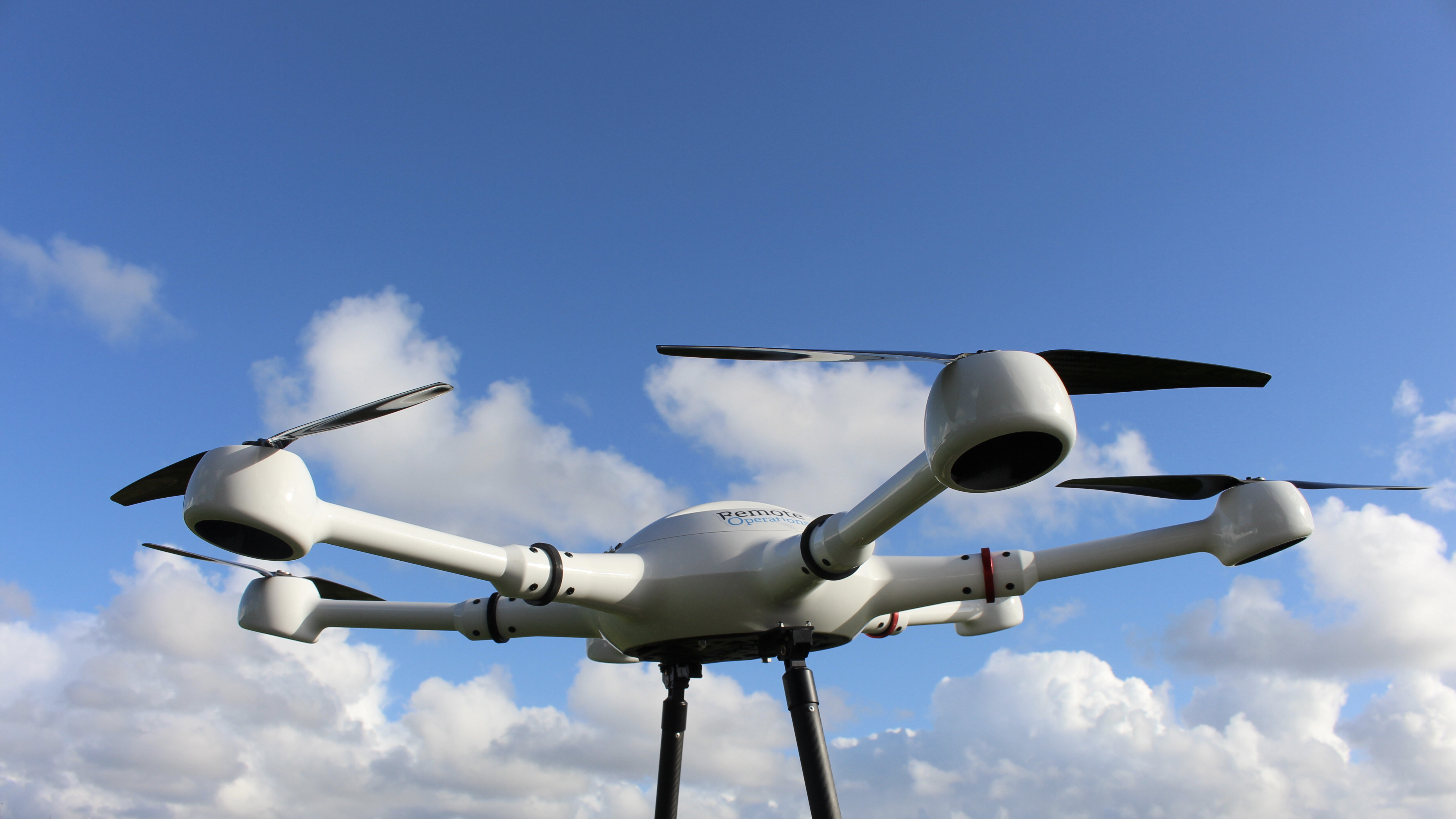 Remote Operations drone with sky and cloud background