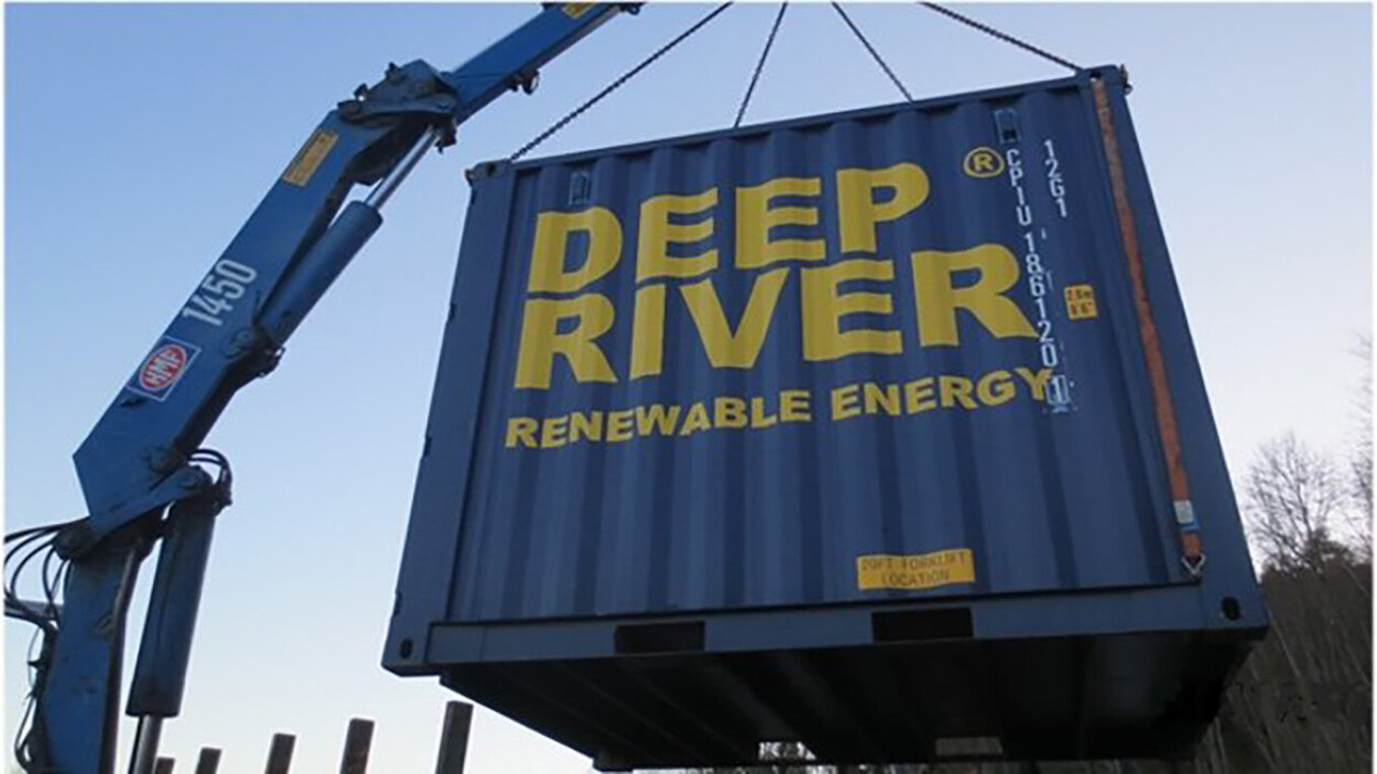 Deep River's hydropower plants are easy to install.